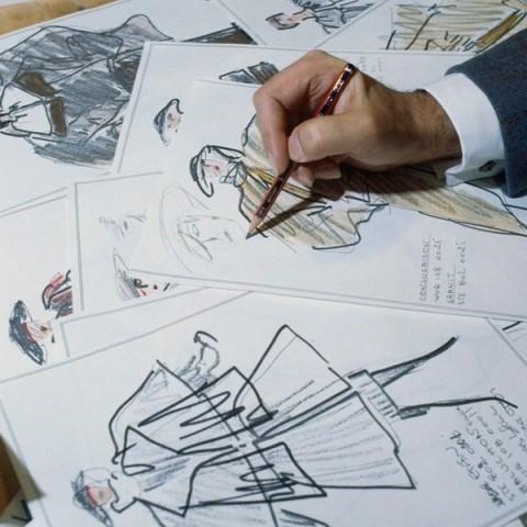 Karl Lagerfeld drawing